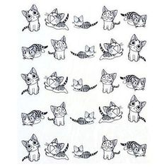 Nail Stickers 3D Black Cute Cat Design Nail Art by EuStore