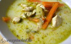 Belga csirkeleves Hungarian Recipes, Cheeseburger Chowder, Hummus, Soup, Ethnic Recipes, Soups