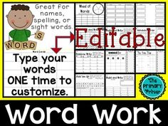 I am so excited about this product - It has literally saved me hours of time creating spelling homework  and word work activities for my kiddos.   I have also been formatting the activities for my son who is a third grader.  It just takes SECONDS to type in his spelling words and we have THIRTEEN activities ready to pick and choose!