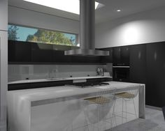 Jazzy Updated Residence Design : Contemporary Kitchen Design Fancy Bar Stools Modern 5942 Residence Rendereing Ideas