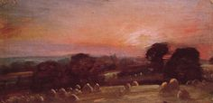A Hayfield near East Bergholt at Sunset, 1812