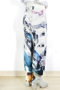 72b5054135d5 Yohji Yamamoto Y s Watercolour Trousers Sz 2