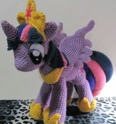 Crocheted alicorn Twilight sparkle