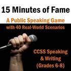 Previous pinner: I'm going to go out on a limb with a big statement: this project was the most fun my class had all year. (This isn't always true with public speaki. Public Speaking Activities, Speaking Games, Public Speaking Tips, Speech Activities, Teaching Resources, High School Classroom, Classroom Games, Classroom Ideas, Speech And Debate
