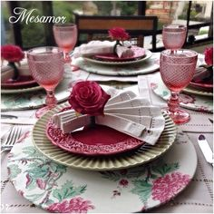 table.quenalbertini: Beautiful table setting