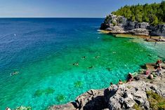 Bruce Peninsula National Park, Tobermory Picture: Indian Head Cove, a very popular place for swimming along the Georgian Bay Trail within BP Nat. - Check out Tripadvisor members' 845 candid photos and videos. Tobermory Ontario, Tobermory Canada, Bruce Peninsula, Discover Canada, Destinations, Summer Travel, Kayaking, Trip Advisor, Beautiful Places