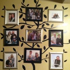 Our Family Tree. I love it!!! The tree decal is available at Target.