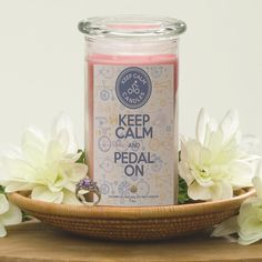 Keep Calm and Pedal On - Keep Calm Candles