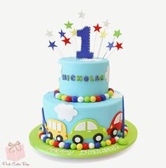 Baby Cake Images - Cakes pictures for babies. Cakes for baby birthday and baby celebrations. Baby cake images visit website for. Baby Boy Birthday Cake, Baby Boy Cakes, Happy Birthday, 2nd Birthday, Birthday Ideas, Cars Theme Cake, Car Cakes For Boys, Bolo Fack, Rodjendanske Torte