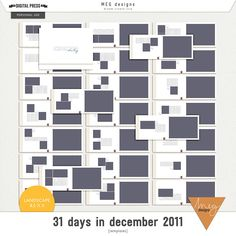 31 days in december 2011   templates [8.5x11]