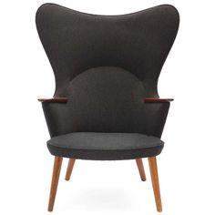 Hans J. Wegner; Oak Lounge Chair for AP Stolen, 1960s.
