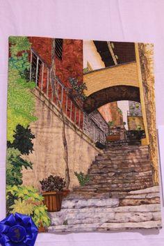 beautiful architectural art quilt