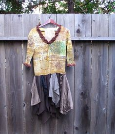 Romantic Funky Dress Eco Friendly UpCycled Mori Girls by KheGreen, $49.50
