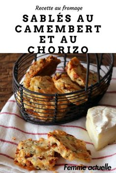 Découvrez notre recette de sablés au camembert et au chorizo. #camembert #fromage #chorizo
