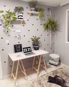 home decor cheap Study Room Decor, Room Ideas Bedroom, Diy Bedroom Decor, Wall Decor, Home Office Space, Home Office Design, Home Office Decor, Office Setup, Office Organization