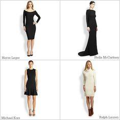 Pretty, simple holiday dresses at Saks Fifth Avenue via the #MembershipRewards marketplace. #PointsForPresents [ad]