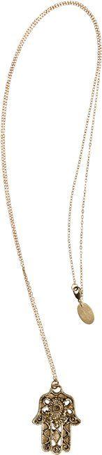 FLEA MARKET GIRL GOLD HAMSA NECKLACE > Womens > Accessories > Jewelry | Swell.com