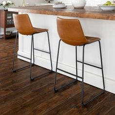 Shop Carbon Loft Prusiner Faux Leather Bar Stool (Set of - On Sale - Overstock - 11815223 - Stone Grey Plywood Furniture, Design Furniture, Chair Design, Modern Furniture, Leather Counter Stools, Brown Leather Bar Stools, Brown Bar Stools, Bar Stools With Backs, Stools For Kitchen Island