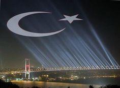 Bogaz koprusu  Turk bayragi
