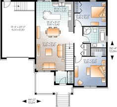 Best House Plans Images On Pinterest House Floor Plans - Two bedroom bungalow designs