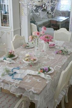 shabby style dining <3