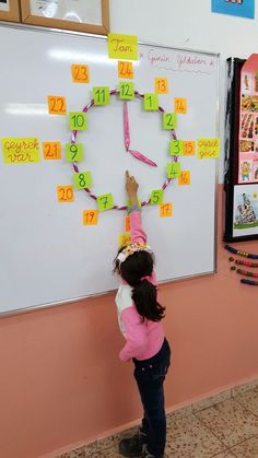 Magnets with the hula hoop so that it can be put up and down quickly between classes Do for unit circle next year?This Pin was discovered by ÖĞRThis post was discovered by Nicole Pelosi. Discover (and save!) your own Posts on Unirazi. Teaching Time, Teaching Math, Primary Teaching, Math Classroom, Kindergarten Math, Math Math, Primary Maths, 1st Grade Math, Math For Kids