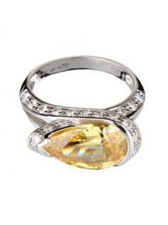Vamp Pheonix Exquisite Sterling Silver Ring Set With A Breathtaking Canary  Cubic Zirconias by Vamp London a1e6f61a5a