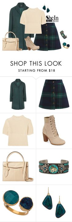 """""""outfit 4146"""" by natalyag ❤ liked on Polyvore featuring Topshop, Totême, Timberland, Foley + Corinna and Janna Conner Designs"""