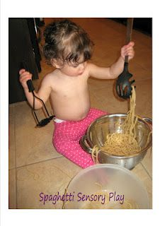 Spaghetti Sensory Play (thinking this would be good for my madden to try)