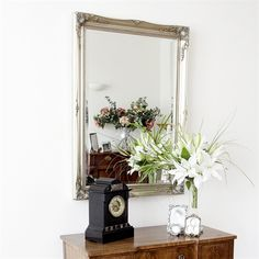 Image of Simple Classic French Silver Mirror