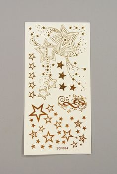 Tatouages tatoos éphèmères temporaires non permanents étoiles dorées