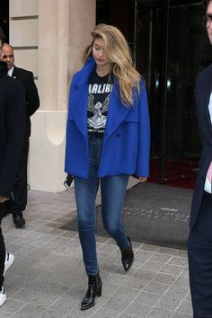 GIGI HADID Out and About in Paris 10/04/2015 – HawtCelebs – HawtCelebs