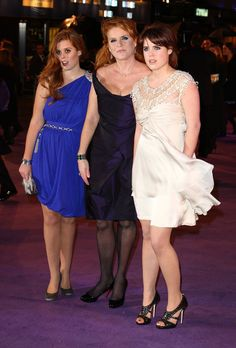 Princesses Beatrice and Eugenie joined their mother for the premiere of The Young Victoria in London in 2009.