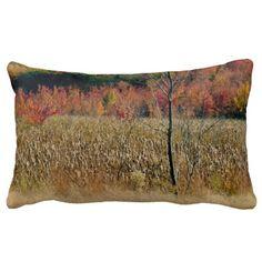 Throw Pillow lumbar photo of autumn in New by GHJPhotographyArt