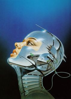 Pin says Classic robot fantasy art from the incredible Sorayama. These illustrations inspired the AIBO robot.