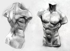 Male Torso Study by yolque.deviantart.com on @DeviantArt