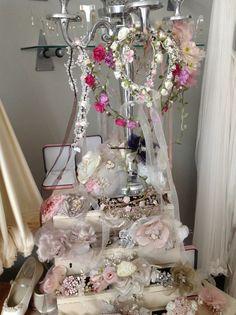 Floral Garlands at Gillian Million Visit www.gillianmillion.com #bespoke #wedding #accessories #bridal #hairpiece