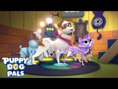 Doghouse Dance Off Playtime avec un chien chiot copains Disney Junior Pug Puppies, Husky Puppy, Pugs, Disney Junior, Pitbull Boxer, Niches, Cute Puppy Videos, Dog Houses, Doberman