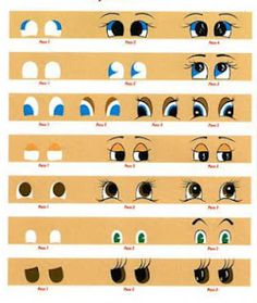 painting doll eyes on cloth   eyes110 - Art Dolls Today