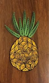 quilling pineapple - Google Search
