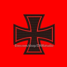 Iron Cross Embroidery Design - 5 Sizes - INSTANT DOWNLOAD  This design manually made by hand, from start to finish. It is a digitized embroidery design for a buyer who has an embroidery sewing machine.  https://www.etsy.com/listing/510842912/iron-cross-embroidery-design-5-sizes  #stitch #digitized #Sewing #Needlecraft #stitches #Embroidery #Applique #EmbroideryDesign #pattern #MachineEmbroidery #IronCross #Cross #MalteseCross #Maltese #GermanCross