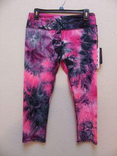 RBX Women's Capri Size M Color Pink Black White Dye Style # 6046 Retail $78.00 #RBX #Capri
