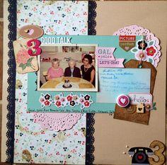 April Scraptastic kit. Doilies