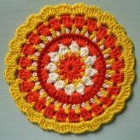 Crochet Mandala Wheel made by Sarah, Northern Ireland for yarndale.co.uk