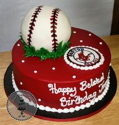 I love this cake.  Thinking it would totally work for Michelle's glitzy baseball party!