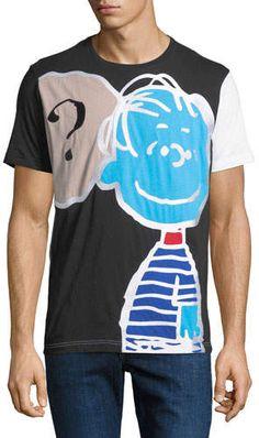 73d4b2f65c3 Iceberg Men s Peanuts Linus Thought-Cloud Graphic T-Shirt