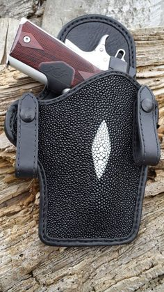 Black Stingray Holster Style 1911 by AdvancedLeather on Etsy
