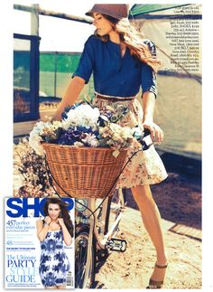SHOP magazine // Lisa Mo top, Azuki skirt, Nine West hat, Country Roads belt, and Antoine + Stanley shoes
