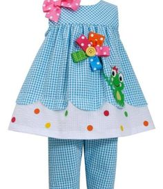 Bonnie Jean Little Girls' Turquoise FROG Applique Seersucker Capri outfit Toddler Dress, Toddler Outfits, Baby Dress, Kids Outfits, Baby Outfits, Little Girl Fashion, Kids Fashion, Capri Outfits, Seersucker Dress