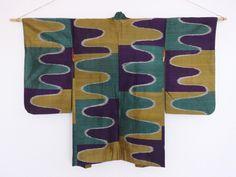 Silk Ripples Haori. Early-mid 20th-century meisen.